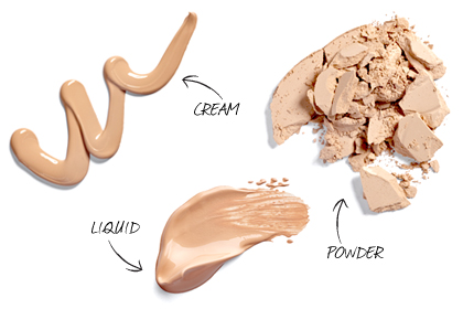 How to select makeup foundation saloni health beauty for Different foundation types
