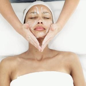 Woman Getting Facial Treatment