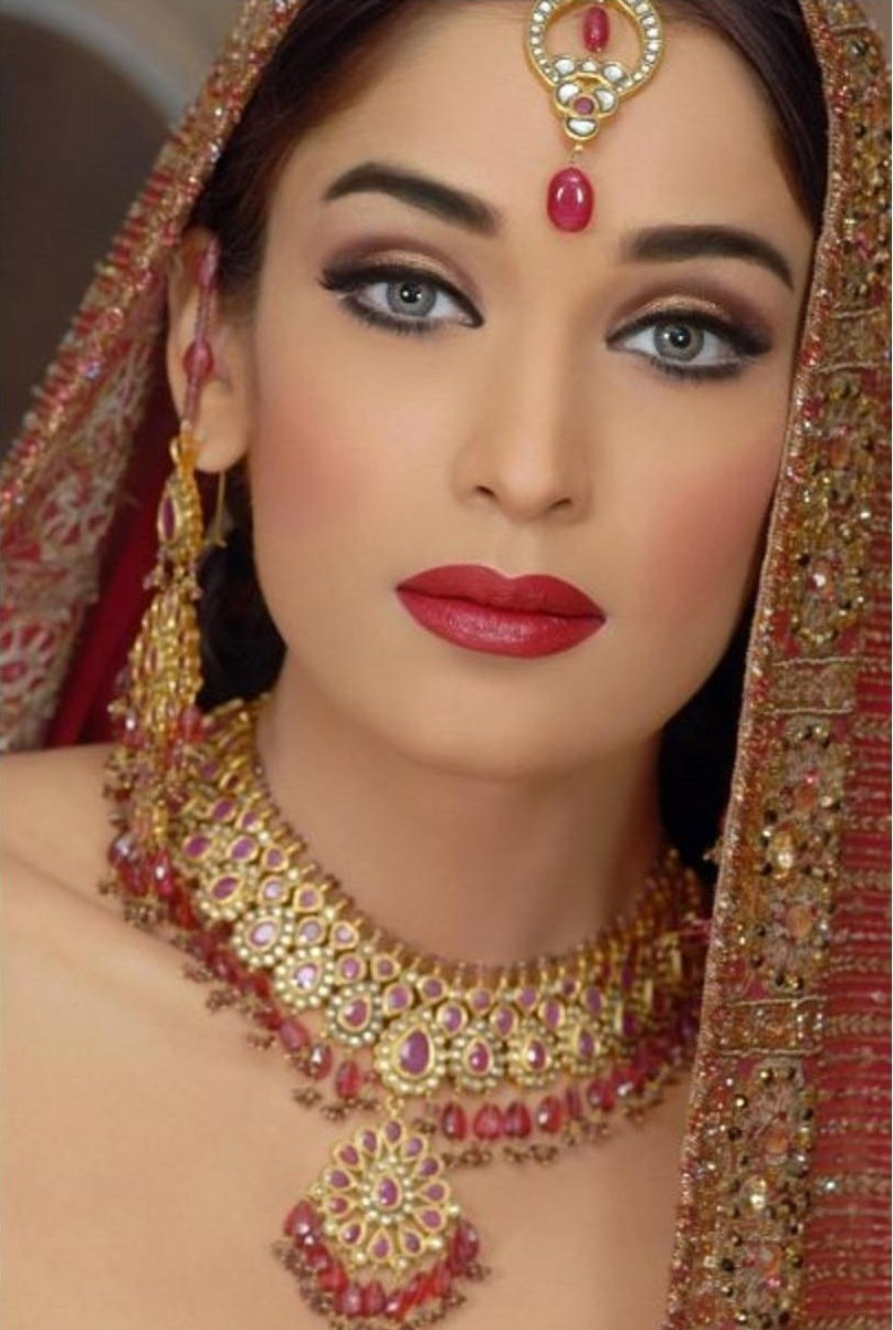 Latest dulhan walima mehndi makeup by blazon salon and for A b beauty salon