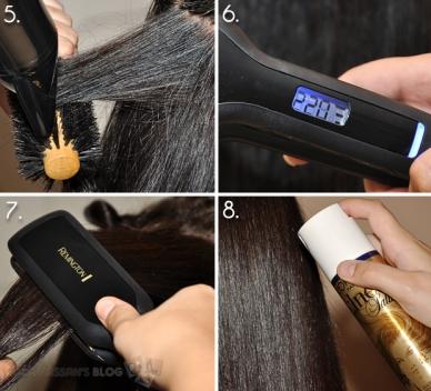 Using Serum or Hair Protection Spray