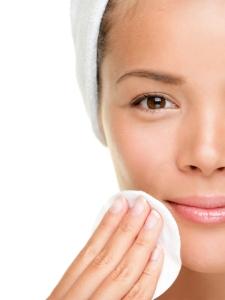 skin care woman removing makeup