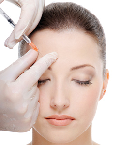 Wrinkles can be hidden with Botox