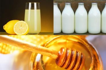 Honey, milk and Lemon Juice