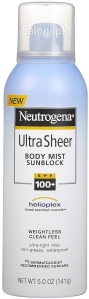 Saloni Product Review – Neutrogena Ultra Sheer Body Mist Sunblock SPF 100+