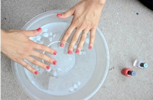Dunking Nails to Dry