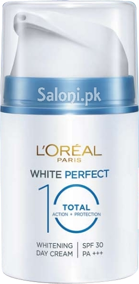 saloni product review l oreal paris white perfect total 10 whitening day cream spf 30 pa. Black Bedroom Furniture Sets. Home Design Ideas