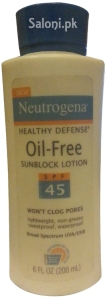 Saloni Product Review – Neutrogena Healthy Defense Oil-Free Sunblock Lotion SPF 45