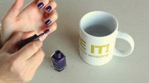Steaming Nails for a Matte Look