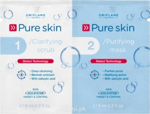Saloni Product Review – Oriflame Pure Skin 1 Clarifying Scrub 2 Purifying Mask