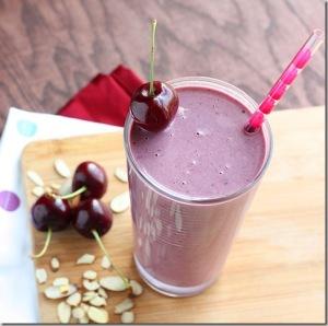 Healthy High-Protein Cherry Almond Smoothie