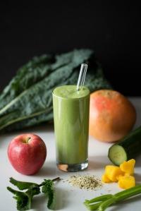 Healthy High-Protein Green Warrior Smoothie