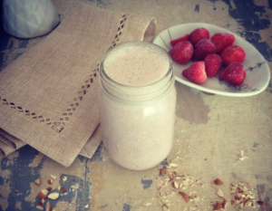 Strawberry Almond Protein Dream Smoothie