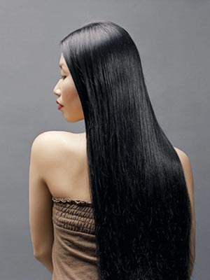black long hair