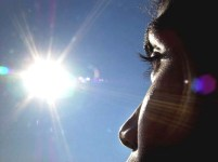 Dimbeswar Basumatary, 24, looks into the sun in Guwahati, 16 December 2002, in Assam state. Basumatary, a college dropout, has baffled ophthalmologists by staring at the radiant sun for hours at a time without blinking. AFP PHOTO