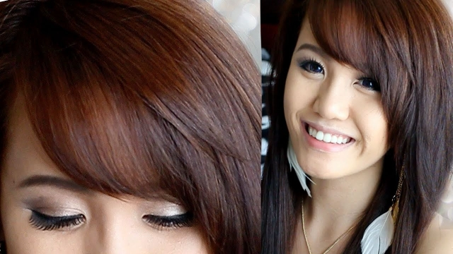 How To Cut Amp Style Side Swept Bangs Youtube throughout Side Swept Bangs Asian - Captiva Hairstyles
