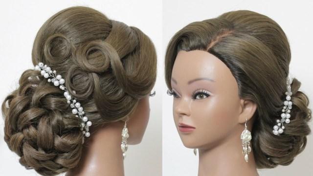 bridal hairstyle for long medium hair tutorial – saloni