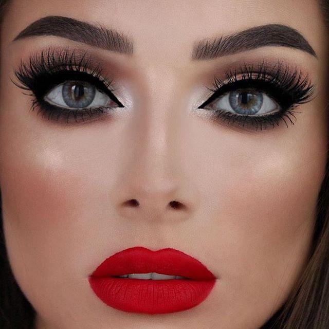 Black Smokey Eyes And Red Lipstick Tutorial 2017 Saloni